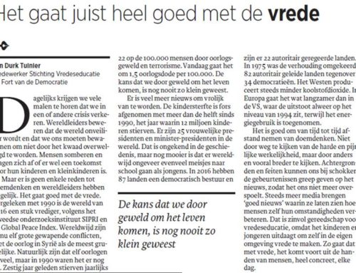 Jan Durk Tuinier in Trouw